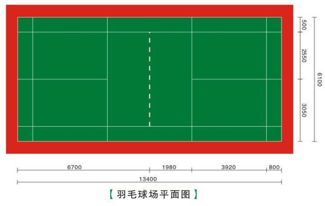 羽毛球场平面图