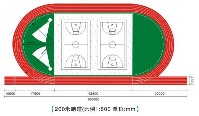 200米跑道