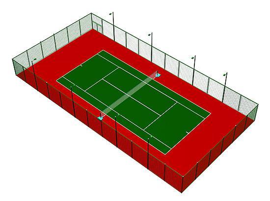 网球场效果图