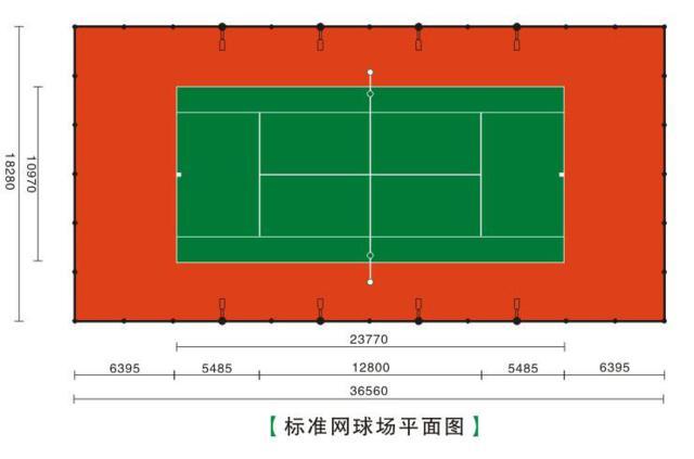 标准网球场平面图