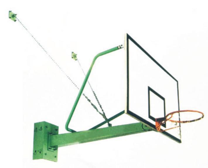 悬臂固定式篮球架