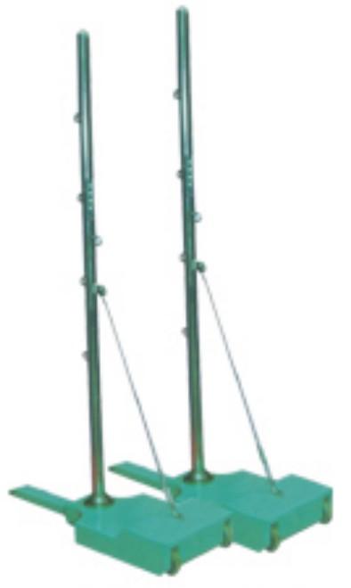 移动式羽毛球球柱