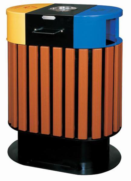 铁木制垃圾桶