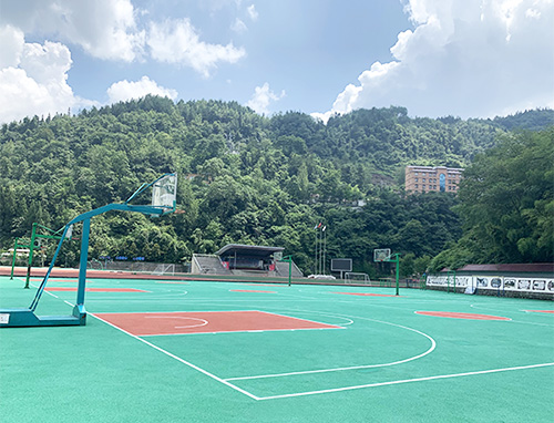 酉阳实验中学塑胶篮球场